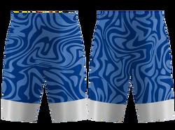 Custom swirl abstract adult youth unisex basketball jersey - reversible uniform - Jersey