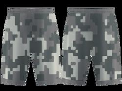 Custom pixelated camo adult youth unisex basketball jersey - reversible uniform - Jersey