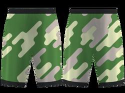 Custom army pixelated camo adult youth unisex basketball jersey - reversible uniform - Jersey